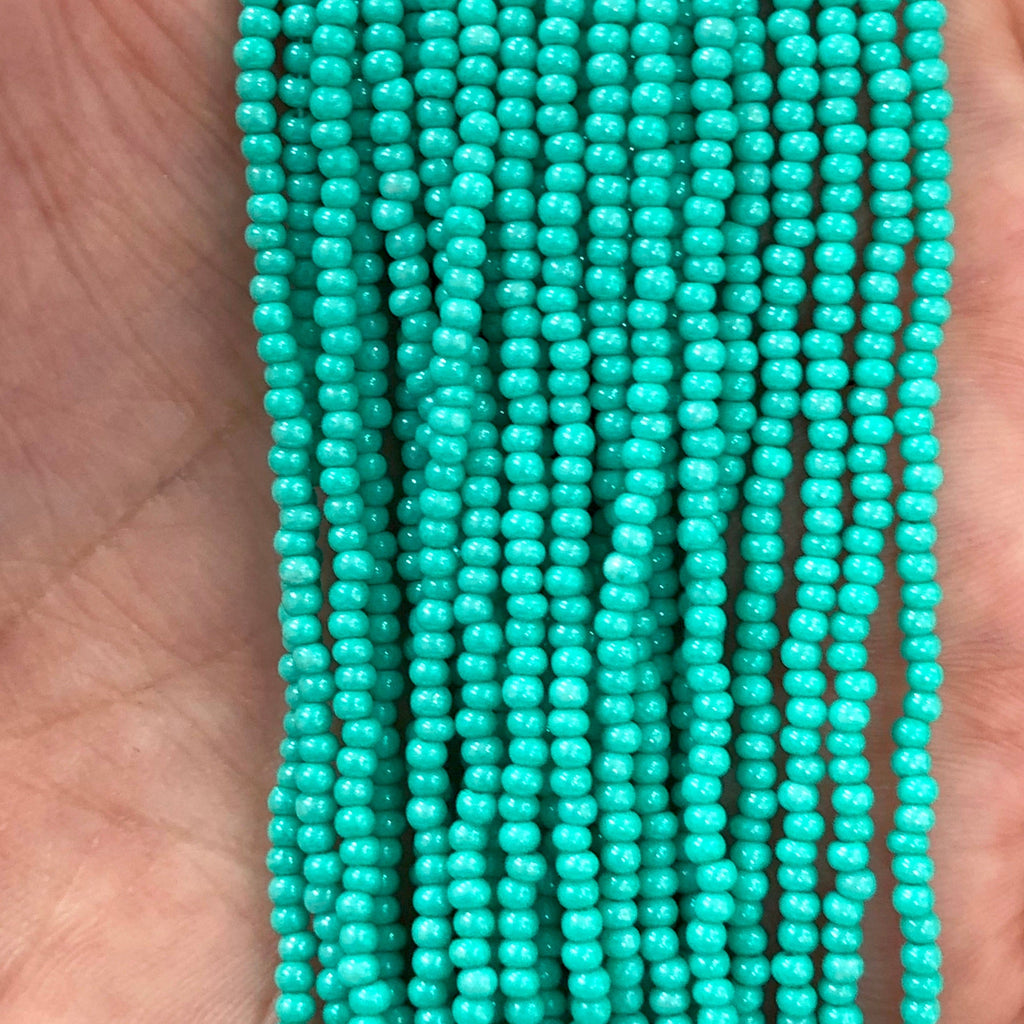 Preciosa Seed Beads 11/0 Rocailles-Round Hole-16358- Ceylon Green-PRCS11/0-46