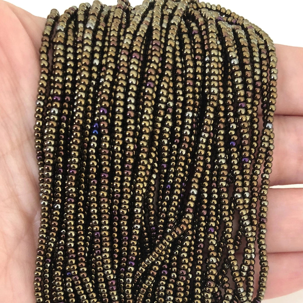 Preciosa Seed Beads 11/0 Rocailles-Round Hole-59115 Brown Iris-PRCS11/0-77