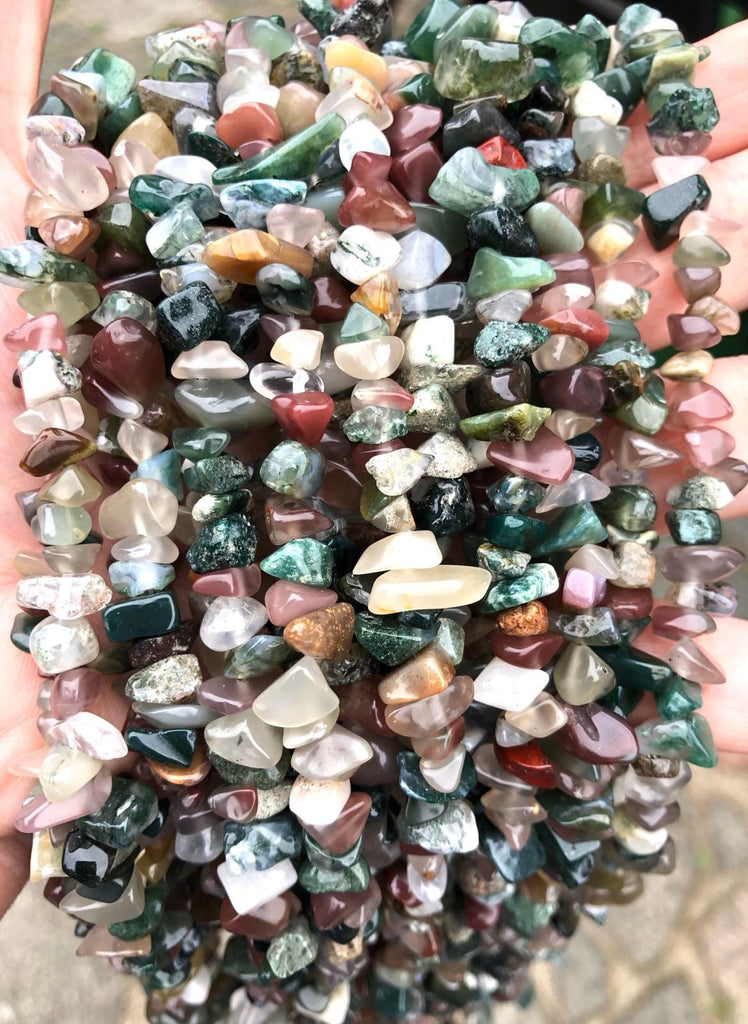 90 cm Strand Natural Freeform Indian Agate Chips, Long strand 36'', beads, gemstone beads,