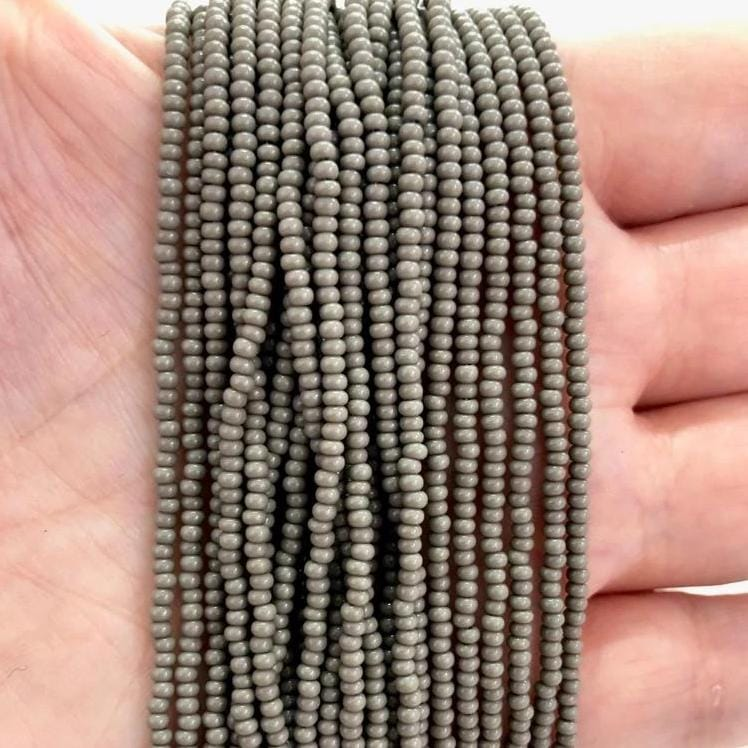 Preciosa Seed Beads 11/0 Rocailles-Round Hole-43020-Opaque Grey-PRCS11/0-42