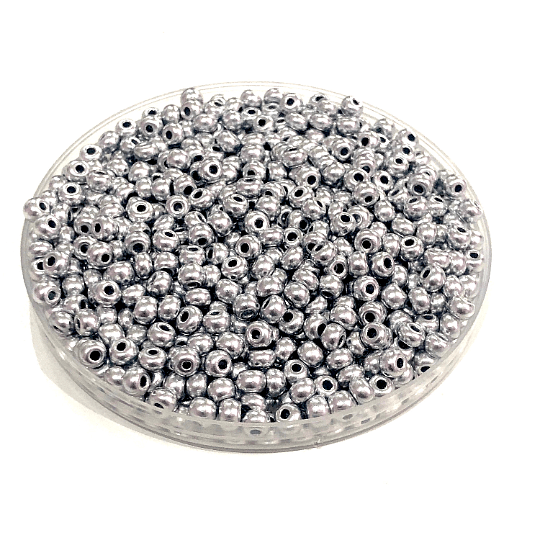 Preciosa  Seed Beads 8/0 Rocailles-Round Hole-20 Gr,01700 Soft Silver