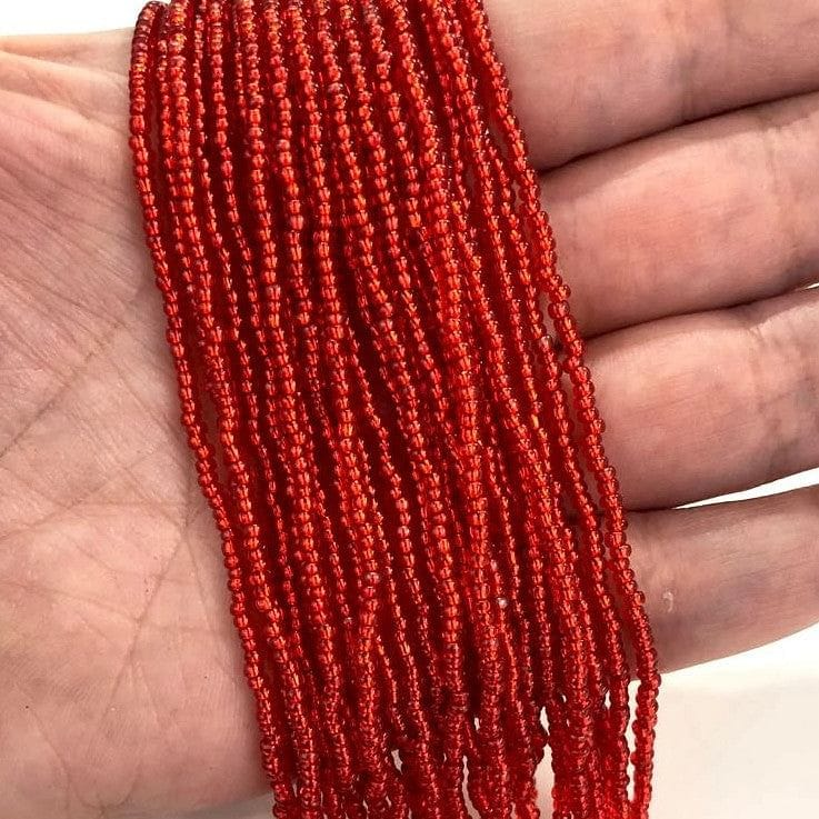 Preciosa Seed Beads 11/0Beads,97050 Transparent Lt. Red Silver Lined PRCS11/0-91,