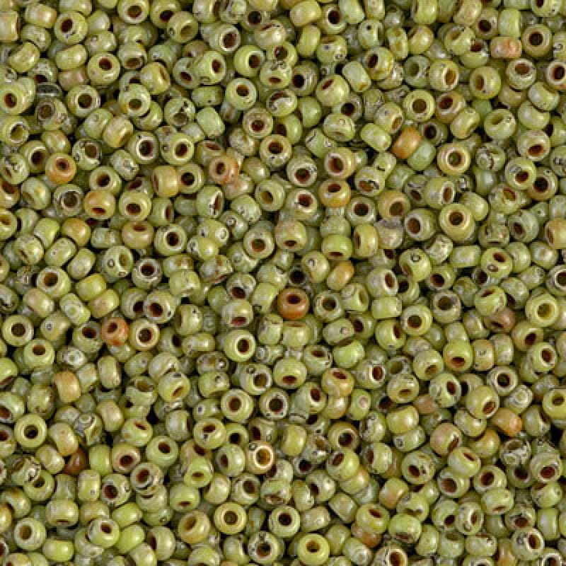 Miyuki Seed Beads 6/0  Picasso Opaque Chartreuse, 4515