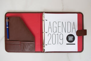 AGENDA CHOCOLATE Y ROJO