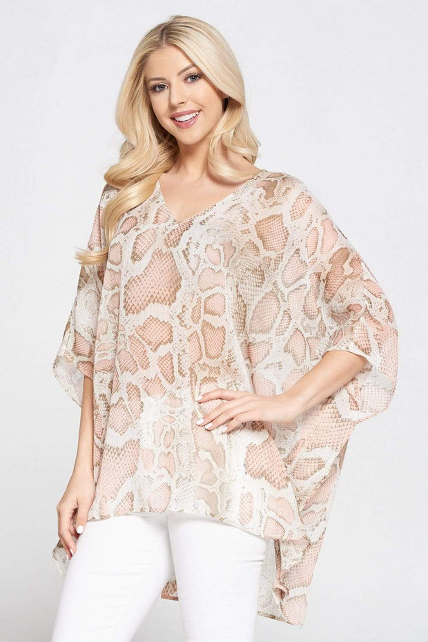 Adrienne Top Small / Light Peach Stella Reptile Top