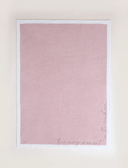 Barefoot Dreams Blanket Rose Mist CozyChic® Inspiration Embroidered Blanket