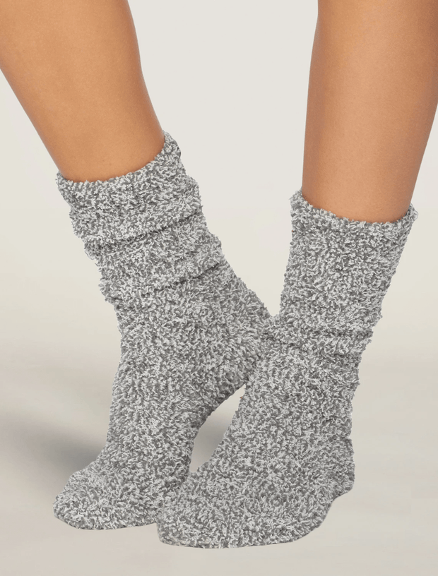 Barefoot Dreams Socks Graphite / White / One Size CozyChic® Heathered Women's Socks