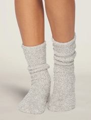 Barefoot Dreams Socks Oyster / White / One Size CozyChic® Heathered Women's Socks