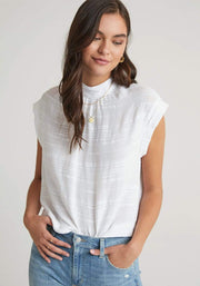 Bella Dahl Top Cap Sleeve Button Back Blouse