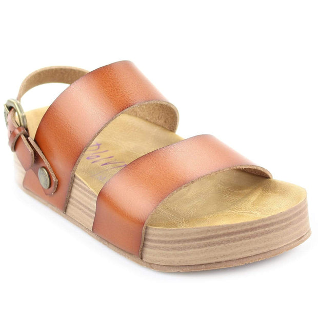 Blowfish Malibu Sandal Scotch Dyecut Faux Leather / 6 Marge Sandal