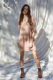 By Together Dress Pink Beige / Small Emilia Woven Dress