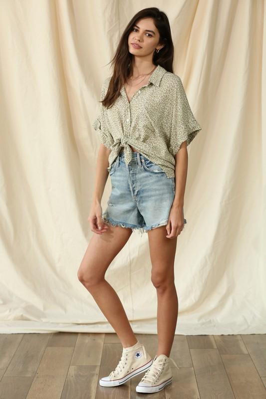 By Together Top Sierra Button Down Top