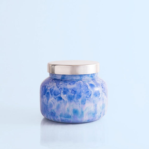 Watercolor Jar Candle - Capri Blue - Teal Poppy Clothing Boutique