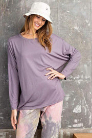 Easel Top PurpleTaupe / S Emerson Top