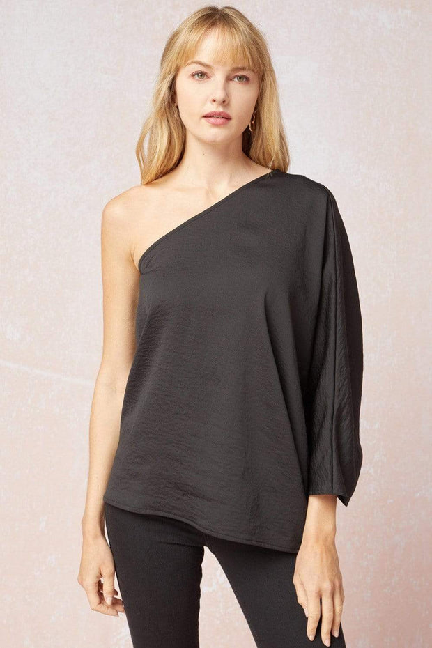 Entro Top Black / Small Hillary One Shoulder Top