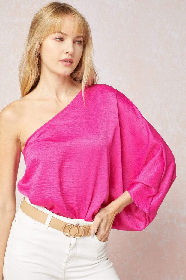 Entro Top Fuchsia / Small Hillary One Shoulder Top