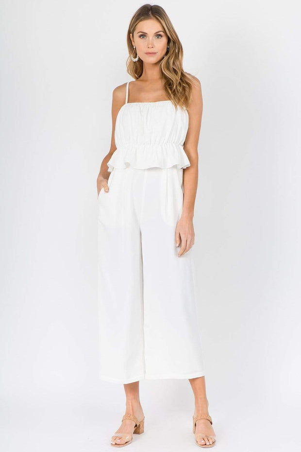 Fanco Jumpsuit Off White / Small Margo Flare Jumpsuit