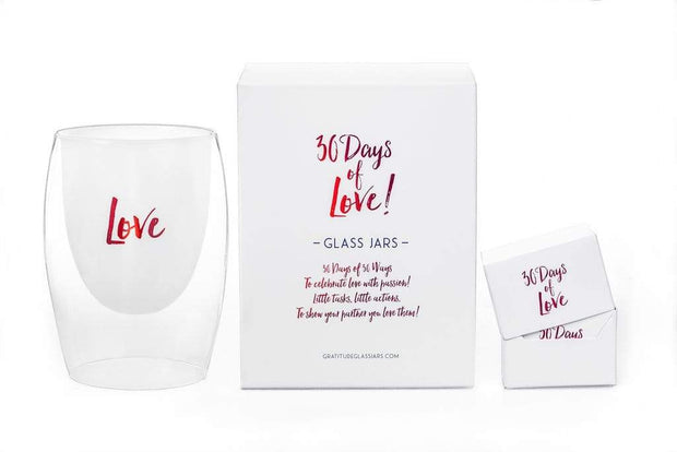Gratitude Glass Jar - 30 Days of Love - Teal Poppy