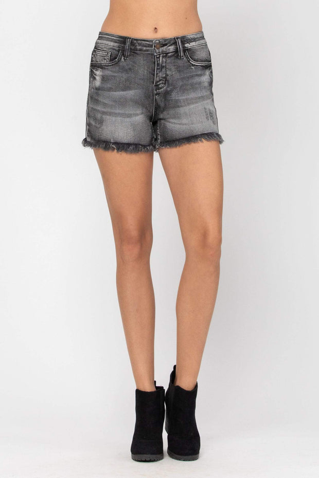 Judy Blue Shorts Fray Hem Cut-Off Shorts - 150035