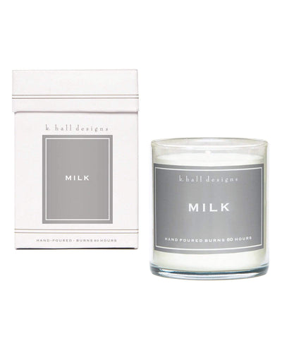 K. Hall Designs Beauty Care Milk Jar Candle