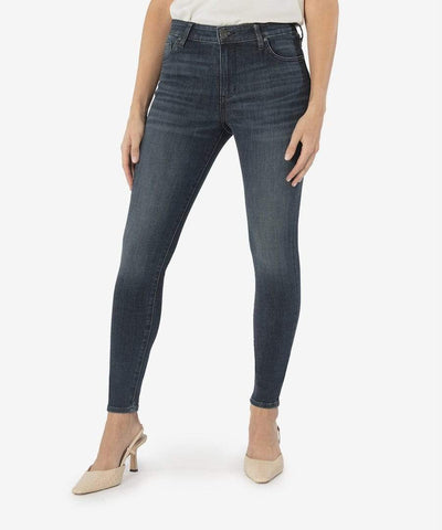 Mia High Rise Slim Fit Skinny - View Wash - Teal Poppy