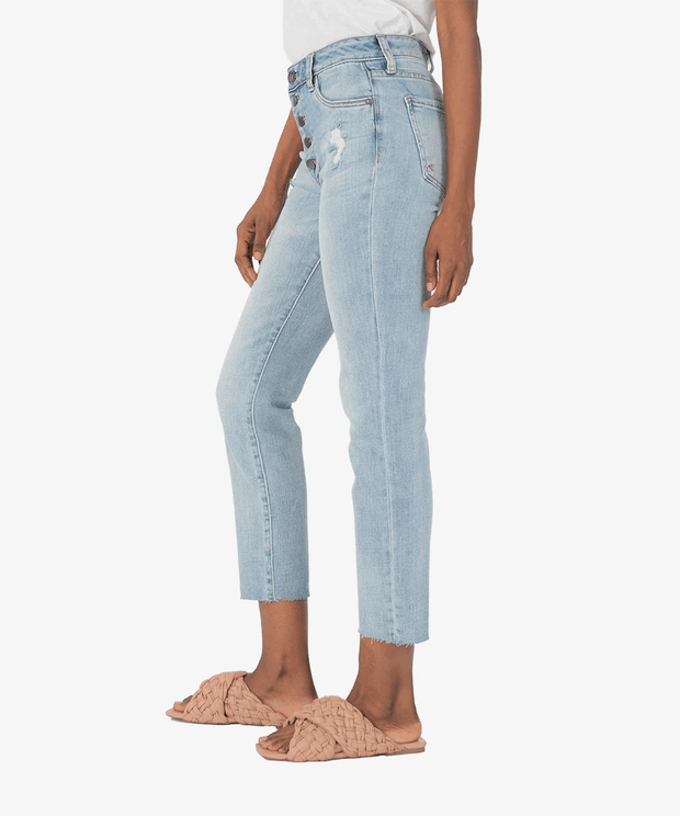 KUT from the Kloth Denim Reese High Rise Ankle Straight Jeans