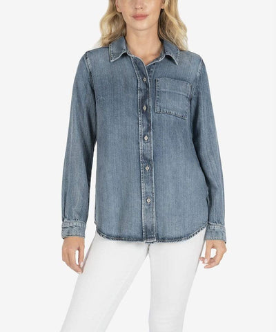 KUT from the Kloth Top Heartsome Wash / Small Grace Button Down Shirt