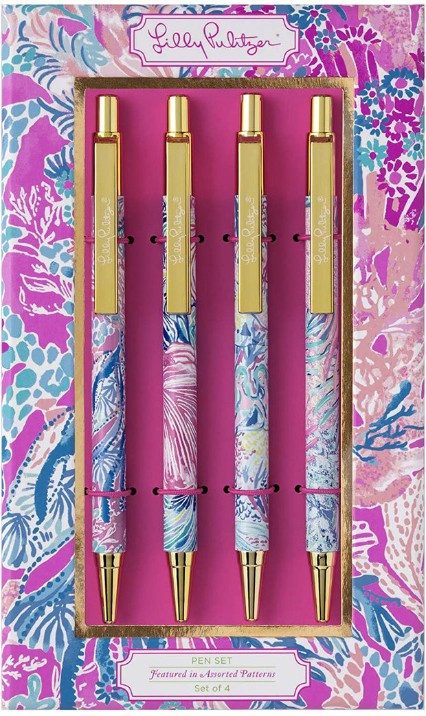 Lilly Pulitzer Gift Lilly Ink Pen Set - Aquadesiac