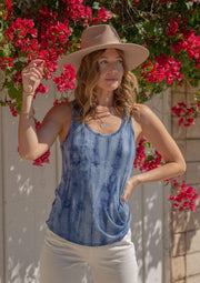 Love Stitch Tank Denim / Small Ashley Tie-dye Tank