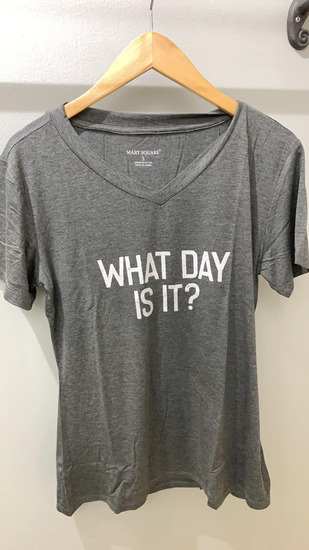 Mary Square Graphic Tee Heather Gray / Small What Day Is It? Tee