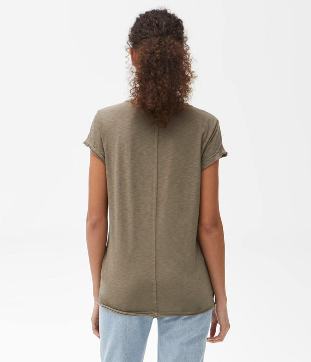 Michael Stars Top One Size / Olive Supima Crew Neck Tee