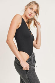 Mono B Body suit Black / Small Ribbed Seamless Scoop-Neck Sleeveless Bodysuit