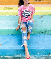 SO LOVED Tie-Dye Tee - Oliver & Otis - Teal Poppy Clothing Boutique