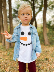 Youth Snowman Tee - Oliver & Otis - Teal Poppy Clothing Boutique