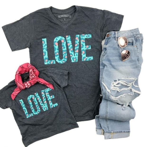 Cheetah Love Tee - Oliver & Otis - Teal Poppy Clothing Boutique