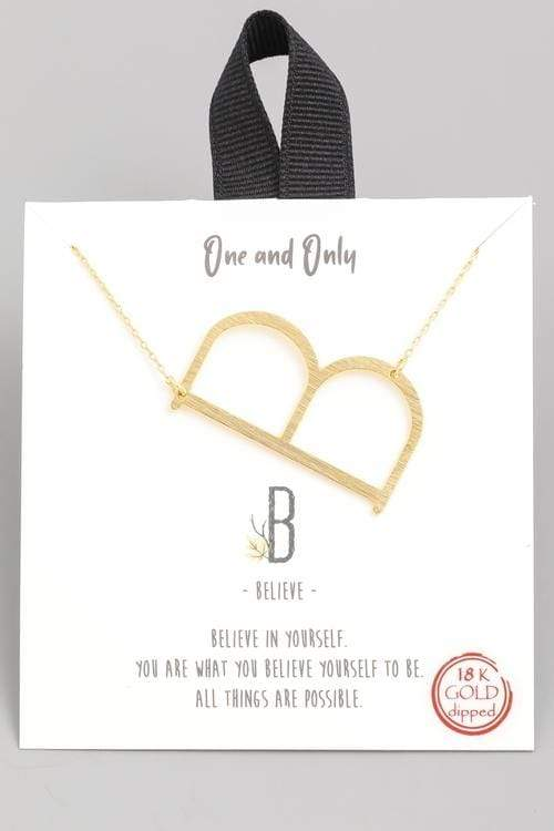 One and Only Initial Necklace - Letter B - Teal Poppy