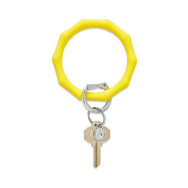 Oventure Bracelet Yes Yellow Bamboo Oventure Big O® Bamboo Silicone Key Ring