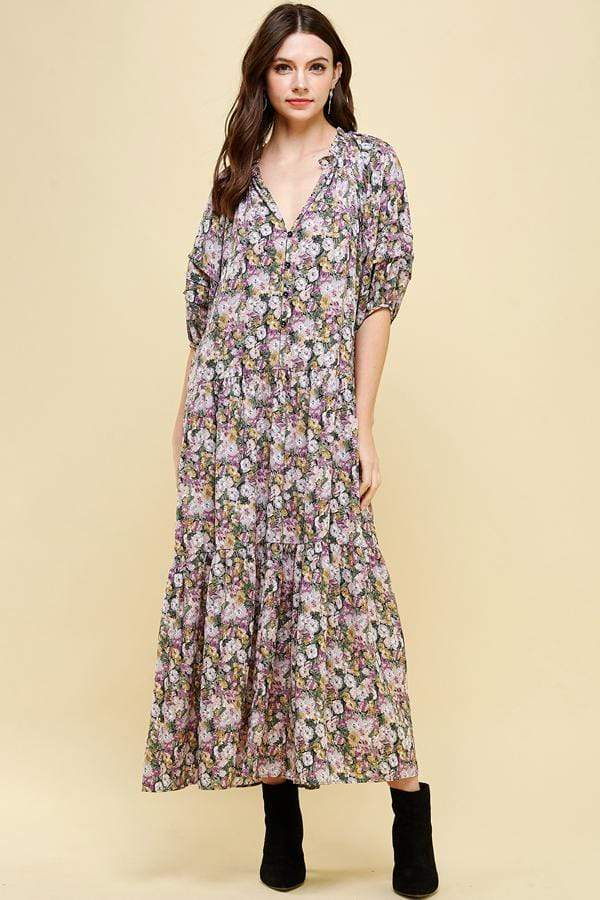 Pinch Dress Floral / Small Gracie Floral Maxi Dress