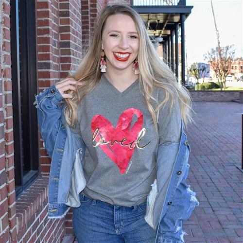 Pink Armadillos Graphic Tee Loved Heart Tee
