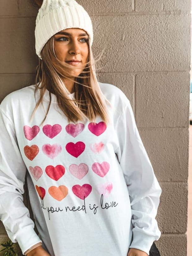 All You Need Is Love Tee - Prickly Pear TX - Teal Poppy Clothing Boutique