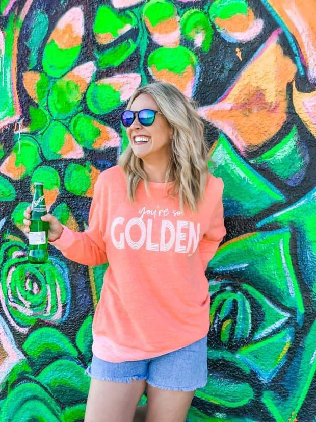 You're So Golden Pullover - Teal Poppy