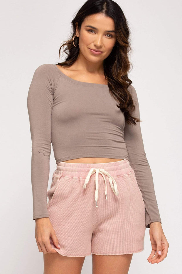 She & Sky Shorts Misty Rose / Small Tia Thermal Shorts
