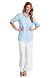 Sofia Pant One Size / White Lacey White Linen Pants
