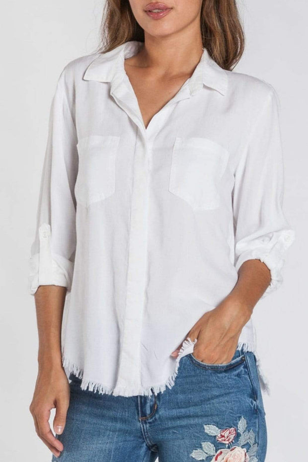 Velvet Heart Top Optic White / X Small Riley Relaxed Fit Top