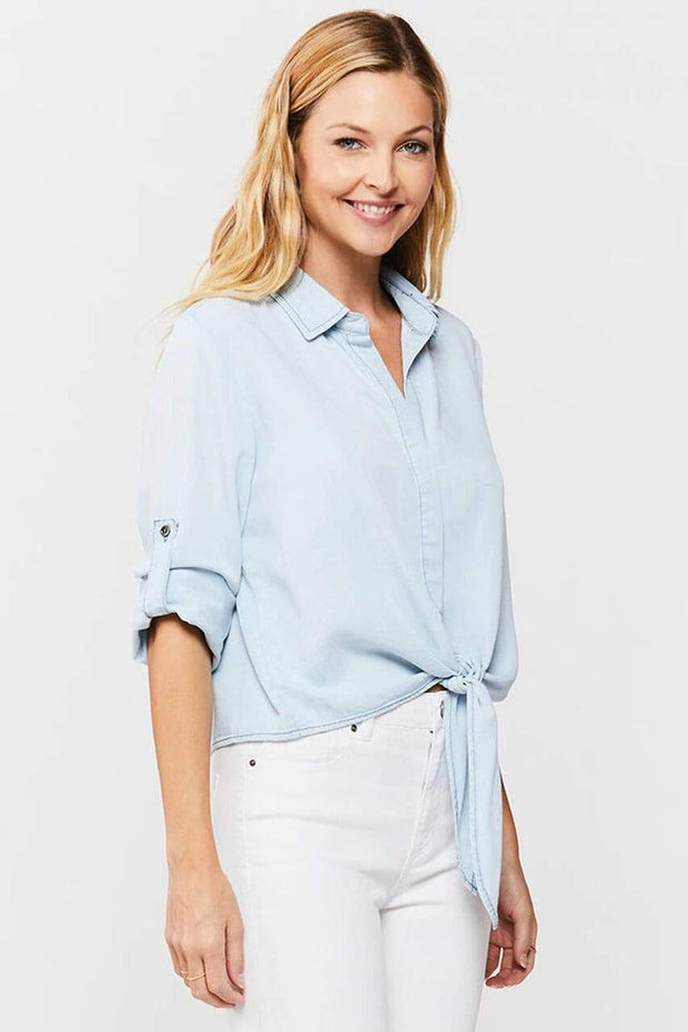 Velvet Heart Top Solange Light Angel Tie-Front Top