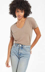 Z Supply Tee Taupe / XS The Cotton Slub Pocket Tee