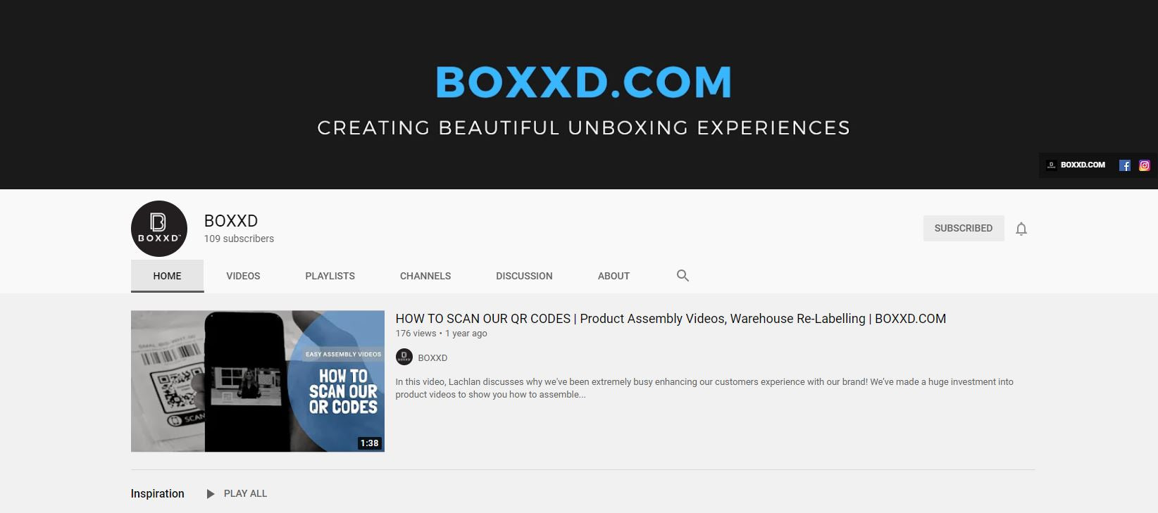 BOXXD Youtube Channel