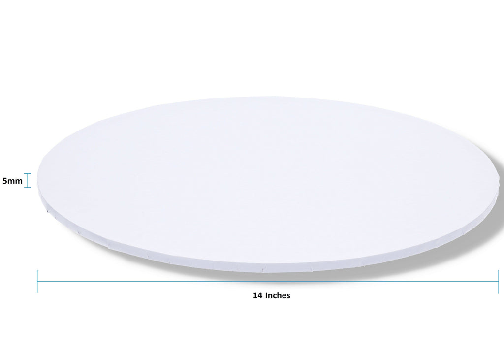 "BOXXD™ CakeBoards 14"" Inch White Masonite (MDF) Round Cake Board"