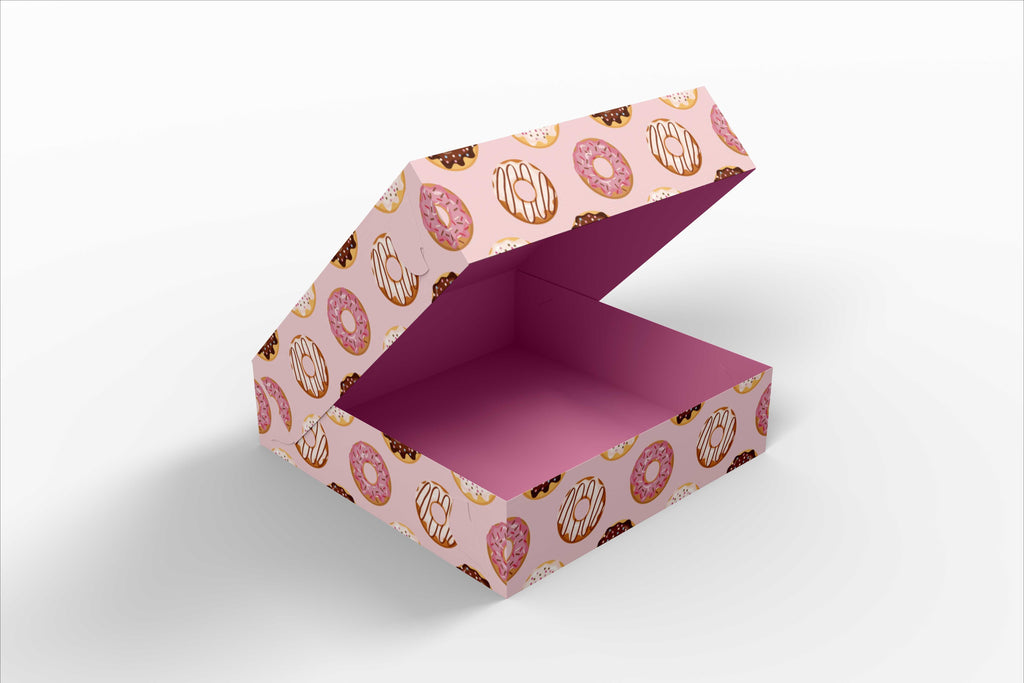 BOXXD™ CustomDonutsBoxes 21 x 21 x 8.5cm Custom Branded 4 Donut Box