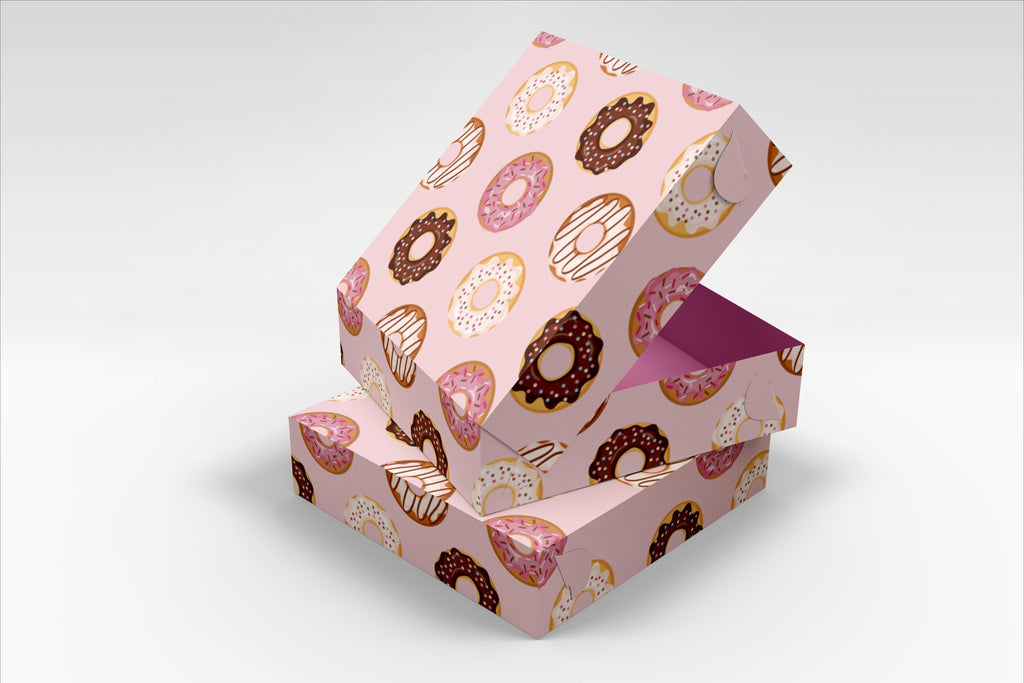 BOXXD™ CustomDonutsBoxes 21 x 21 x 8.5cm Small Custom Branded Donut Box